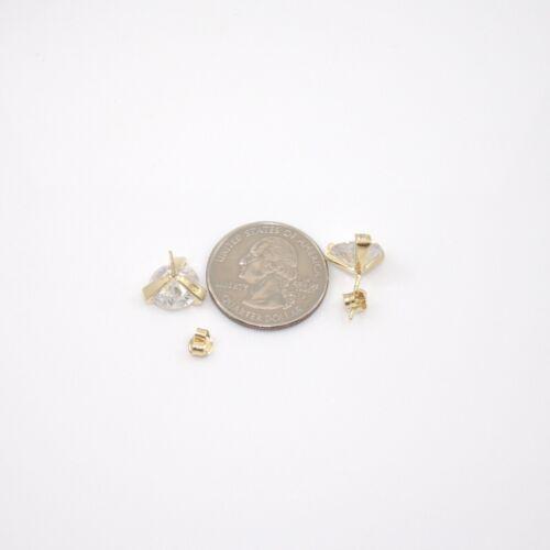 Sterling Argent Or Vermeil clair zircon 10 mm Boucles D/'oreilles Clou