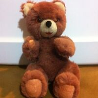 """TEDDY Bear  Pooh STUFFED ANIMAL 8"""" Old Collectable Bright Eyes"""