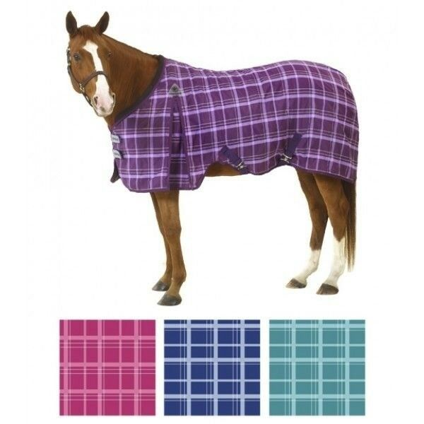 Equi-Essentials EZ-Care Plaid Stable Sheet with Cross Surcingle and Leg Straps