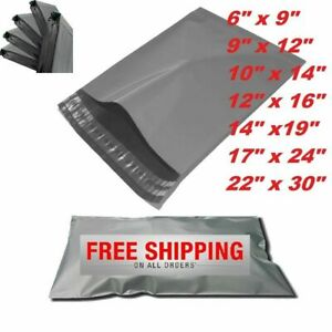 GREY-STRONG-MAILING-MIXED-BAGS-PLASTIC-POSTAL-MAIL-POSTAGE-POLY-100-500-1000