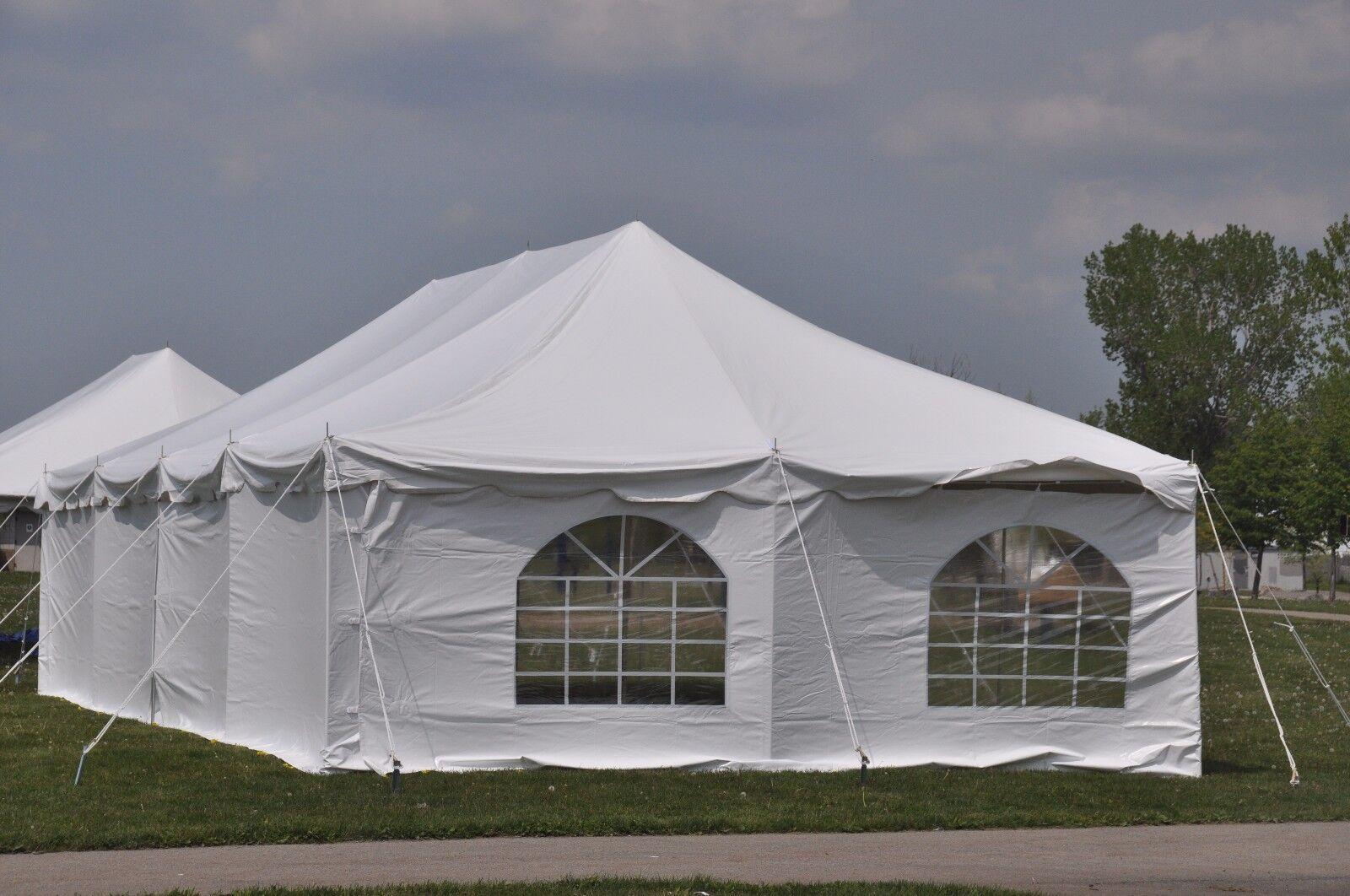 20x40 White Pole Tent Economy Party Tents Frame 4