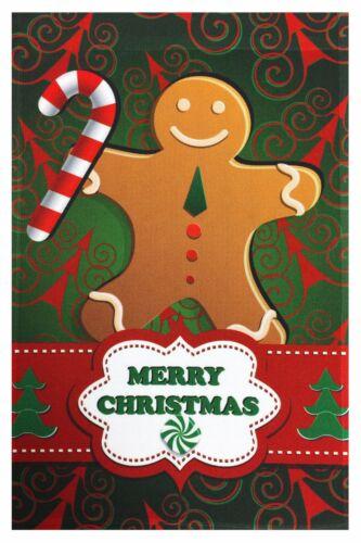 "Merry Christmas Gingerbread Man Garden Flag 12/""X18/"" Designer Decorative Flag"