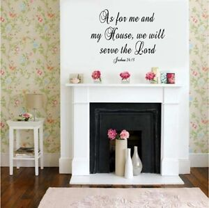 As For Me My House Christian Verse Vinyl Decal Stickers Wall Lettering Decor Ebay