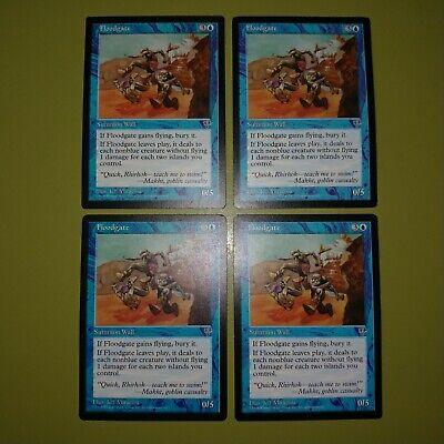 4x Floodgate MTG Mirage NM Magic Regular