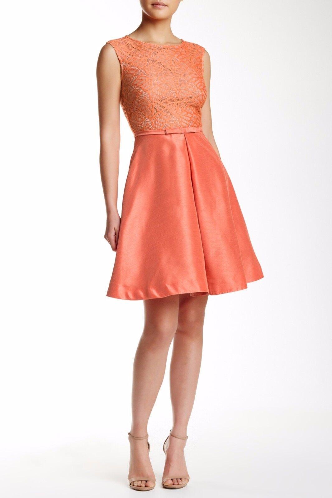 Woherren Just Taylor Größe 14 Orange Fit & Flare Sleeveless Lace Tea Dress NEW NWT
