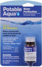 Purification Portable Drinking Treatment Potable Aqua Water 50 Tablets