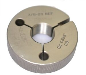 7-8-20-UNEF-3A-Thread-Ring-Gage-Go-ONLY-875-20-TPI-Pipe-Machinery