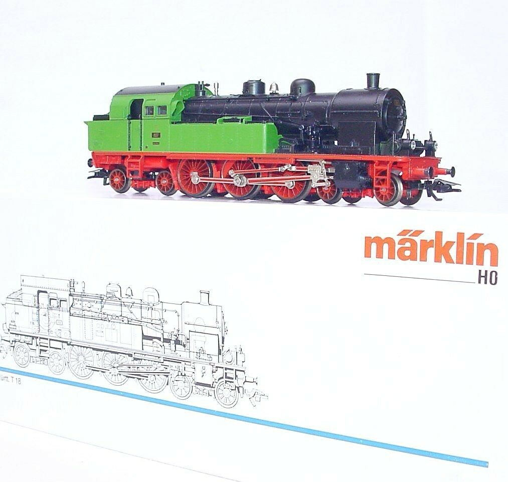Marklin AC HO 1 87  WÜRTTEMBERG  Green T18 STEAM TANK LOCOMOTIVE NEW  MIB`90
