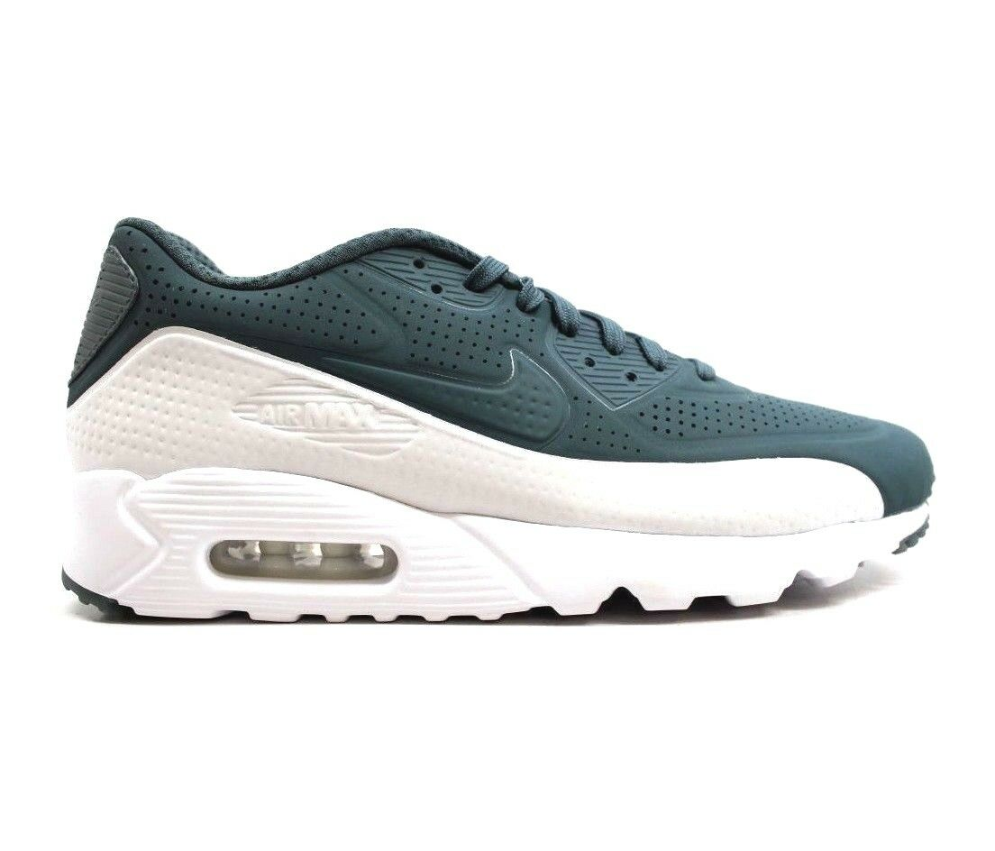 Nike Air Max 90 Ultra Moire Green Hasta/White Men's Shoes Size 10.5 (819477 302)