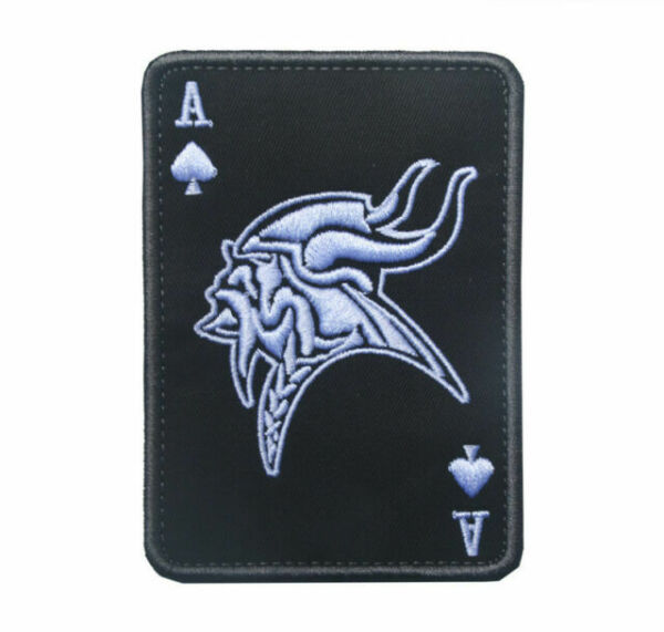 Arabic Ace Of Spades Death Card Tactical Hook & Loop Badge