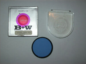 OLD-NEW-STOCK-B-W-55MM-BLUE-SCREW-IN-METAL-FILTER-WITH-CASE-AND-BOX