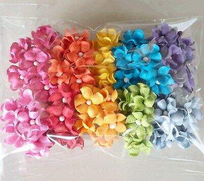 Pick The Amount Mixed 2 Tone Brown LARGE Paper Flowers Scrapbooks Wedding Dolls Crafts Roses 250+147R60
