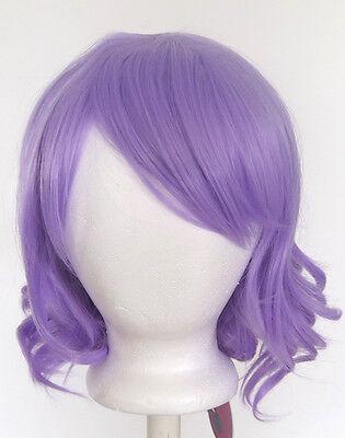 12'' Short Wavy Bob Lavender Purple Synthetic Cosplay Wig NEW