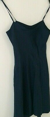 100% Wahr ** Mexx** Nachthemd Negligee Unterkleid In Nachtblau Satinähnliches Material M