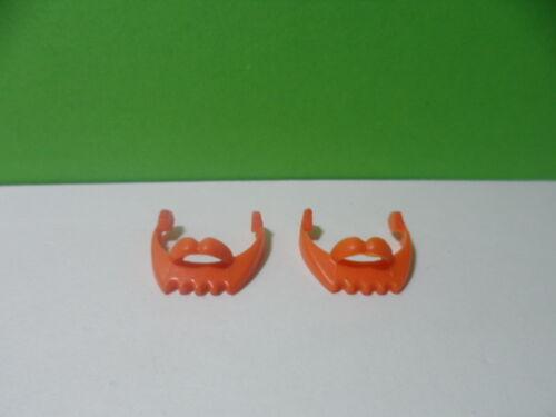 2 beards orange//beard//3599 Playmobil