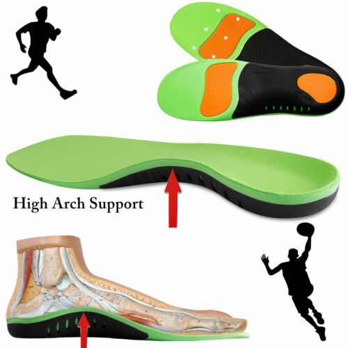 Orthotic Insoles Plantar Fasciitis Arch Support Flat Feet Inserts Gel Pads jc