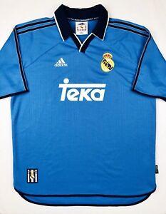 8d677f166f7 Adidas REAL MADRID 1999 2000 L Third Soccer Jersey Football Shirt ...