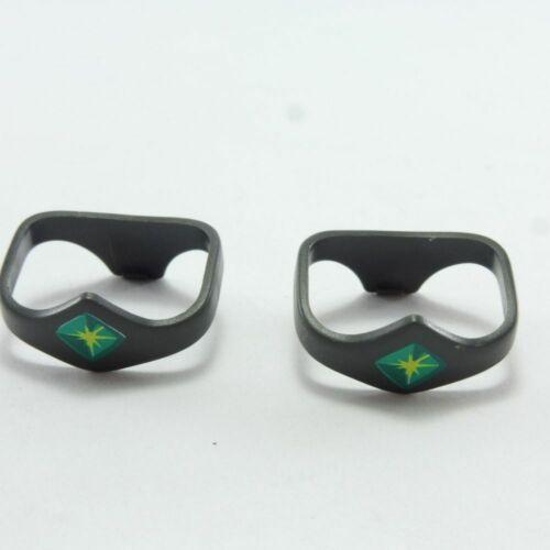 6166 Playmobil Lot de 2 Ceintures Grises Diamant Vert