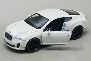 Bentley-Continental-Supersport-Blanco-Welly-Escala-1-34-39-Modelo-del-Coche-de-Juguete-Regalo