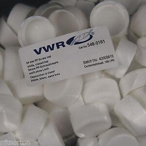 24mm Pp Blanc Bouchon à Vis Fermé Top Nd24-pack De 100 Vwr 548-0161-afficher Le Titre D'origine