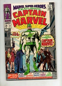 Marvel-Super-Heroes-12-1ST-CAPTAIN-MARVEL-F-VF-7-0-1967-68-Page-Giant-MOVIE