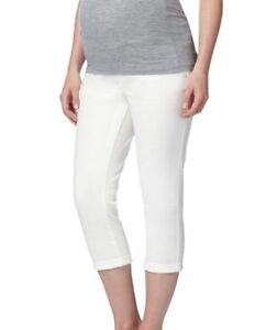 e0ae2e0dd6d91 Image is loading REDHERRING-MATERNITY-OVER-THE-BUMP-CROPPED-JEANS-16-