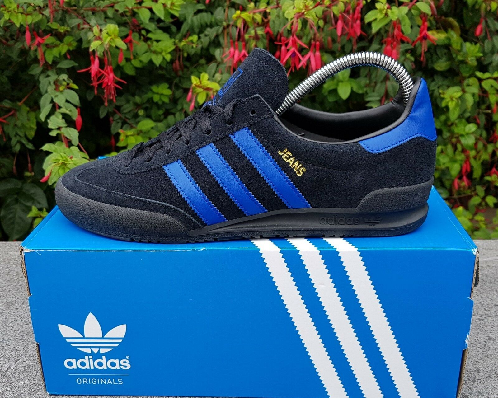 BNWB & Original Adidas Negro Originals Jeans MkII Mk2 Negro Adidas Gamuza Zapatillas Talla 10.5 700b0b