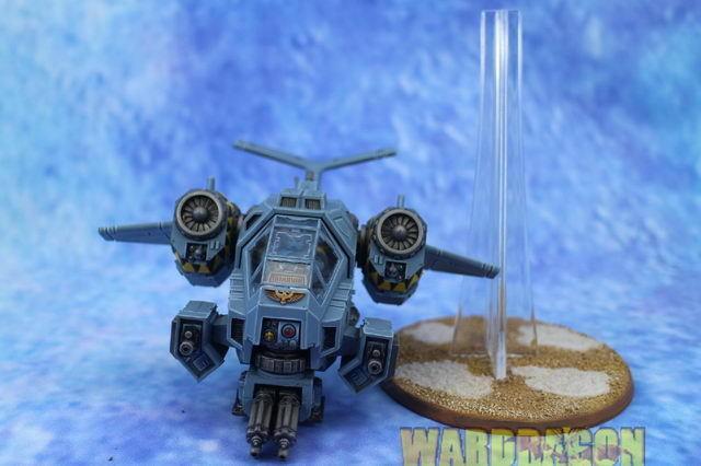 25 mm Warhammer 40K Cañonera Stormtalon Wds Pintado Espacio Lobos c56