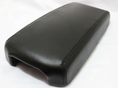 Black Center Console Lid Armrest Cover Synthetic Leather For 13-18 Nissan Altima