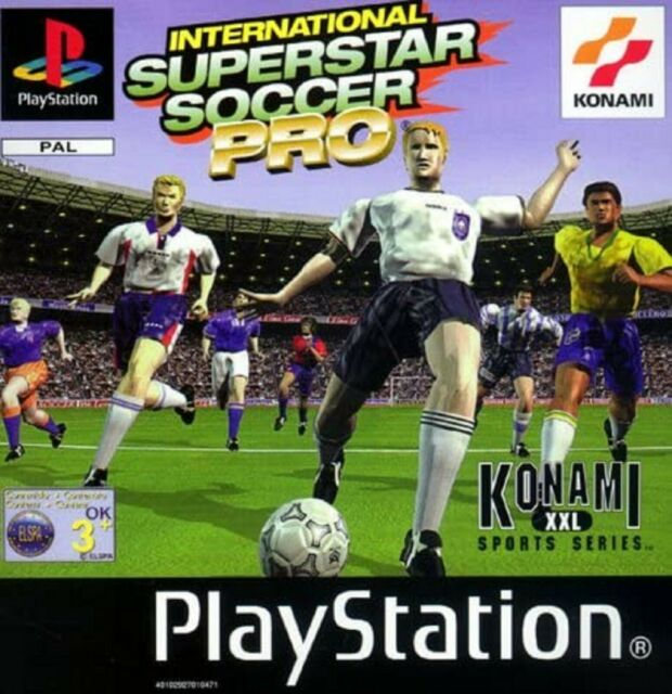 International Superstar Soccer PS1 Playstation 1 Video Game Original UK Release