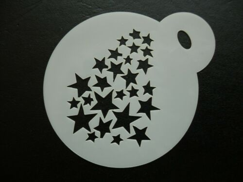 60mm fading stars design cake cookie craft /& face painting stencil