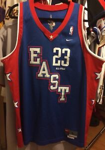 new concept 74e6b ab87e Details about Lebron James Nike All Star Game Jersey 2004 LBJ King Cavs  Cavaliers M L