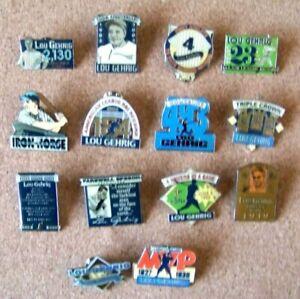 Set of 14 2002 Lou Gehrig accomplishment pins ( ny new york yankees ) pin
