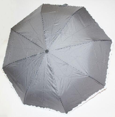Regenschirm Taschenschirm Schirm Sturmfest Romantisch Rüschen Punkten 3280