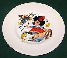 "Vintage Myott Liverpool Pottery Ironstone 6 7/8"" Little Miss Muffet Plate VG"