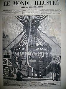 AEROSTAT BALLON CAPTIF NOUVELLE-CALED<wbr/>ONIE REVOLTE CANAQUES MONDE ILLUSTRE 1878