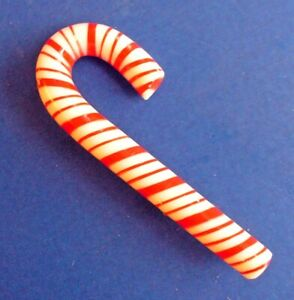 Hallmark-PIN-Christmas-Vintage-CANDY-CANE-1973-THICK-amp-THIN-Stripes-MINT-amp-RARE