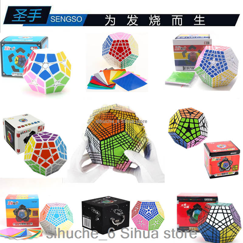 Shengshou Magic Cube Megaminx Dodecahedron Speed Puzzle Jouets Brain Teasers Toys
