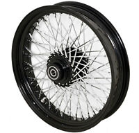 18 X3.5 Wide Black Custom Front Wheel 80 Smooth Spokes Harley Fatboy Road King
