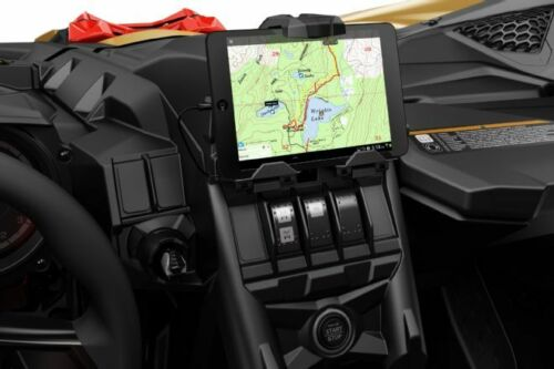 2017-2019 Can Am Maverick X3 OEM Electronic Device Holder w// Integrated Storage