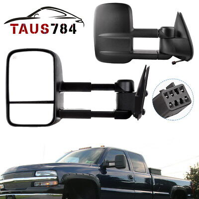 For 02 Silverado Sierra 1500//2500 Tahoe Yukon Suburban Power Heated Mirror Left