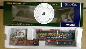 Corgi-CC12802-Scania-T-Cab-Bulk-Tipper-Eddie-Stobart-Ltd-Ed-No-0003-of-9200