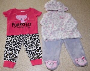 95ff7add8957ec Lot of 2 baby's outfit cheetah/leopard 0-3 months & 3-6 months ...