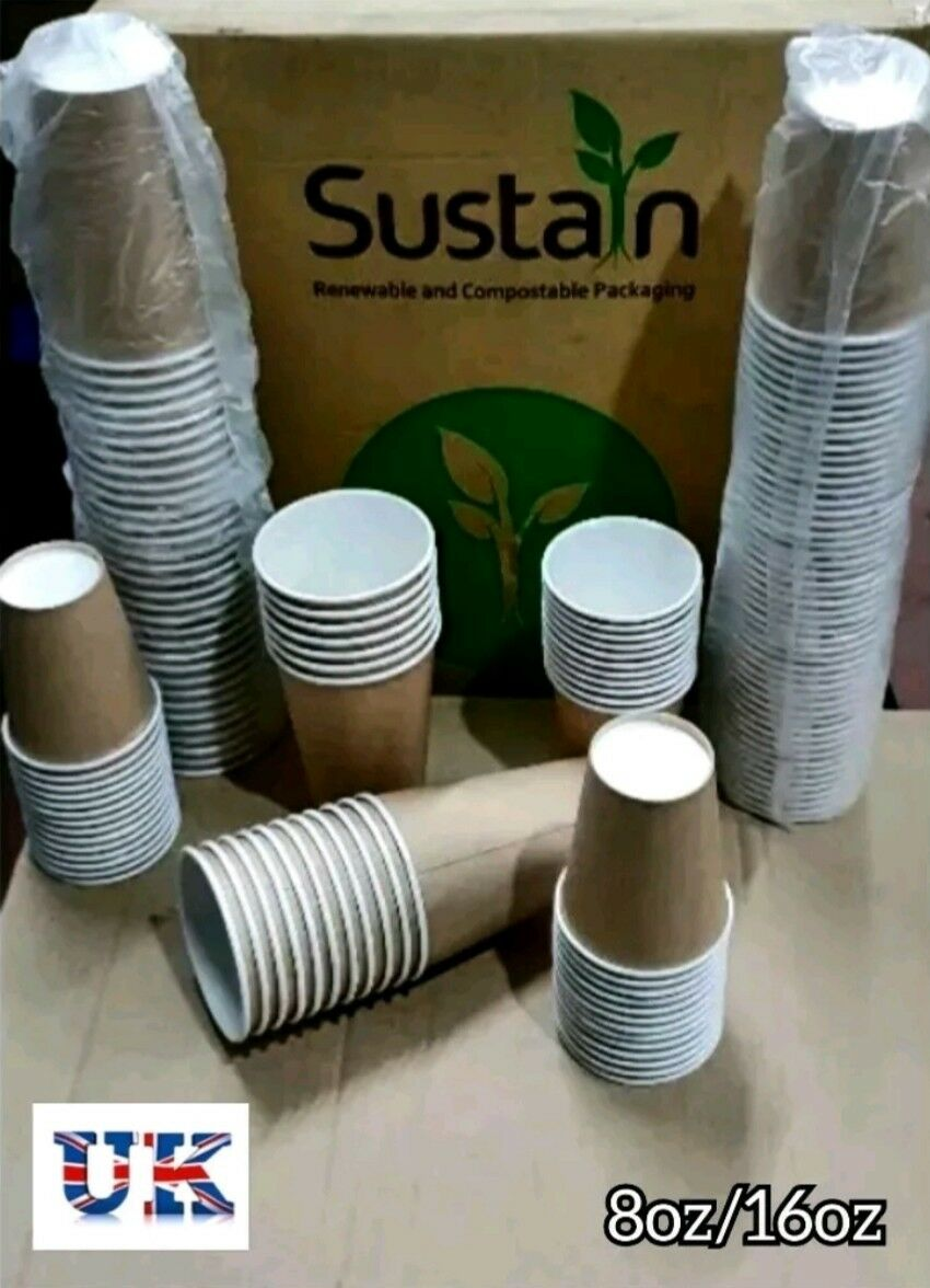 Paper Cups Party Tableware Events Catering Birthday Wedding  8 16oz Hot cold