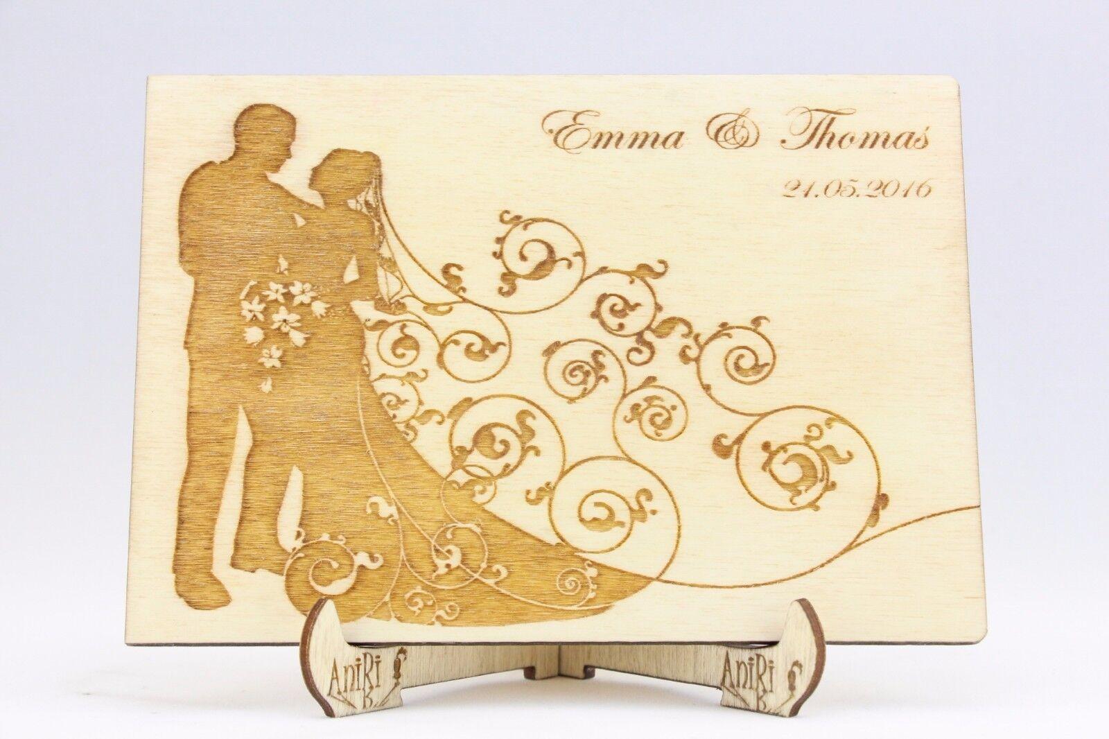 Personalisiert Fotoalbum, Holz, Hochzeit, Ehepaar, Album, Alben, Fotos | Verschiedene Stile und Stile  | Shop Düsseldorf  | Großer Räumungsverkauf
