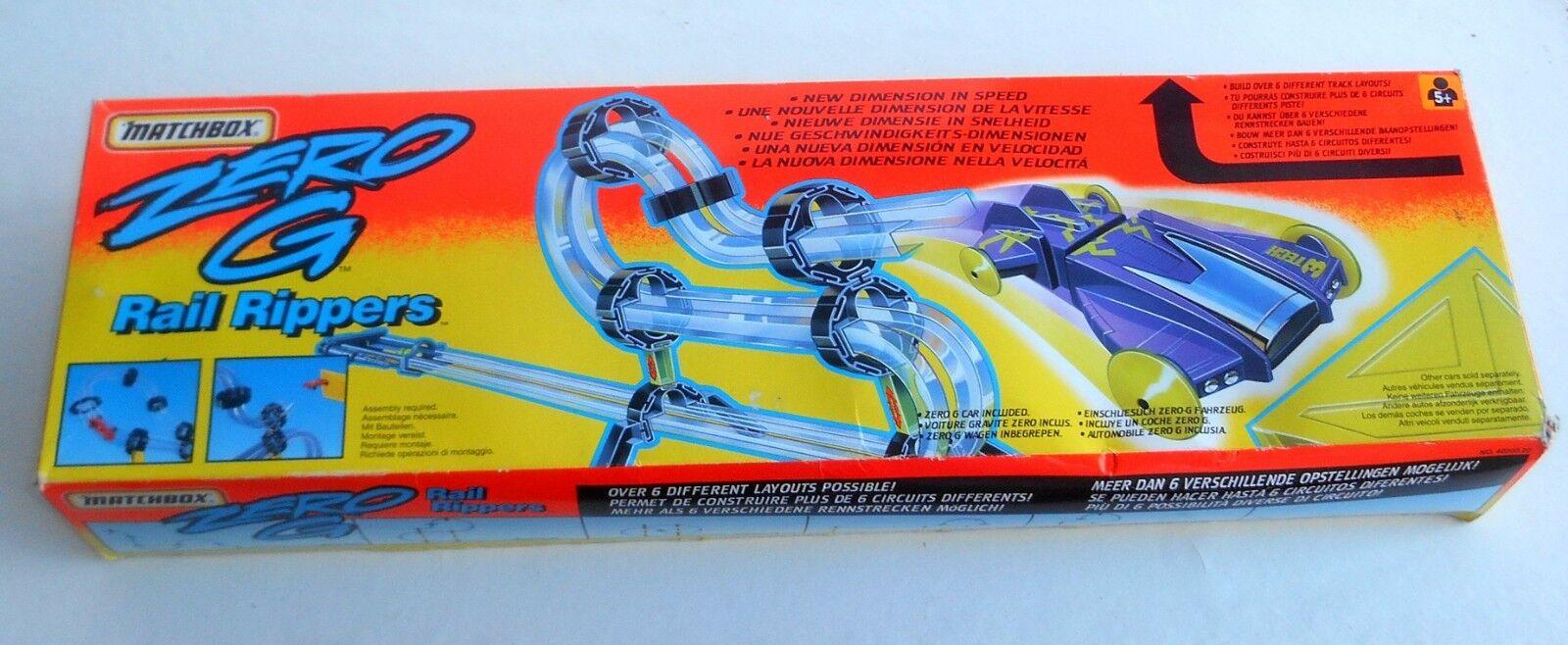 Vintage 1994 Matchbox Lesney Superfast  ZERO G - RAIL RIPPER  Box Instructions