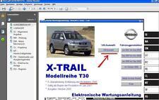 Werkstatthandbuch,elektr. Reparatur-/Wartungsanleitung Nissan X-Trail T30 v.USB