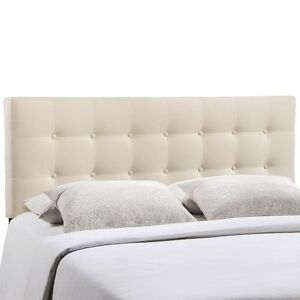 Lexmod Emily Full Fabric Headboard Category Bedroom Color Ivory Mod