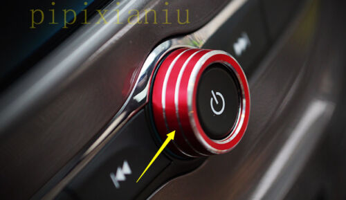 Red Middle Console button Decor Circle Trim For Chevrolet Cruze 2017 2018