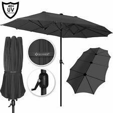 KESSER® Alu Sonnenschirm Doppel Oval Marktschirm Handurbel Gartenschirm UV40+
